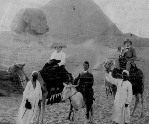 Emilio and his wife Elvira Cape on a trip to Egypt in 1912
