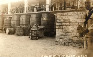 Inside the Bacardi factory in Santiago about 1930